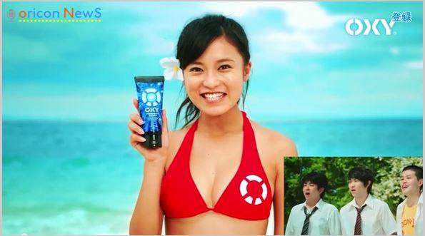 小島瑠璃子がドすけべミズ着で「キモチい~い…」新CMで赤ビキニを着た瑠璃子にフルボッキ(えろ写真)