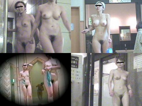 (秘密撮影80枚)風呂上り完全に無防備マン毛お乳丸出し女風呂秘密撮影だぁー