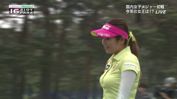 レディースゴルフの韓国イ・ボミ選手の着衣美巨乳が凄い part2