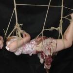 【本格SM】緊縛されて吊るされてるドM女のエロ画像wwwwwww