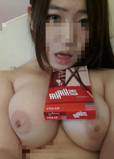 韓国のシロウトお乳写真がえろいのう