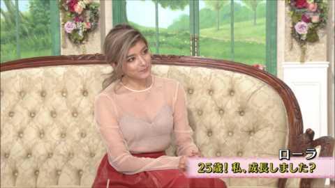 (画像)ローラ「徹子の部屋」でスケスケ☆⇒2ch「なんでお乳強調?」「これじゃビッチ…」