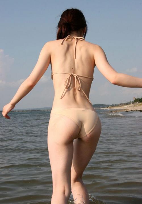 素人女性の水着お尻が堪らんわ