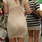 露出狂?wwブラジャーもパンツも…下着透けまくりの女がエロ過ぎるwwwwwwwww